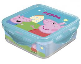 Box svaèinový PEPPA PIG 500 ml, 12,3x12,3x6,7 cm