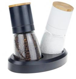 SALT & PEPPER MILL 6,5X13,2CM/140ML, 2PCS