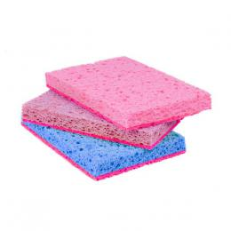SPONGE FOR DISHES, CELLULOSE, 3PCS 106X68X21MM