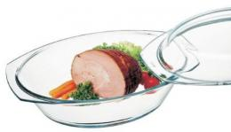 Oval glass bowl+cover 3,0 L (7136/7146)