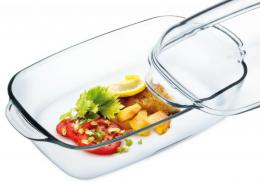 Angular glass bowl+cover 3,2 L (7356/7366)