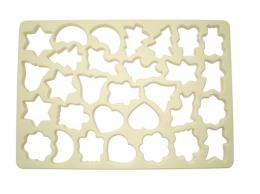 Set of cookie cutters plate 30pcs 21x30cm