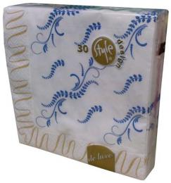 PAPER NAPKIN 3LAYER GOLD RIPPLES33X33,30PCS